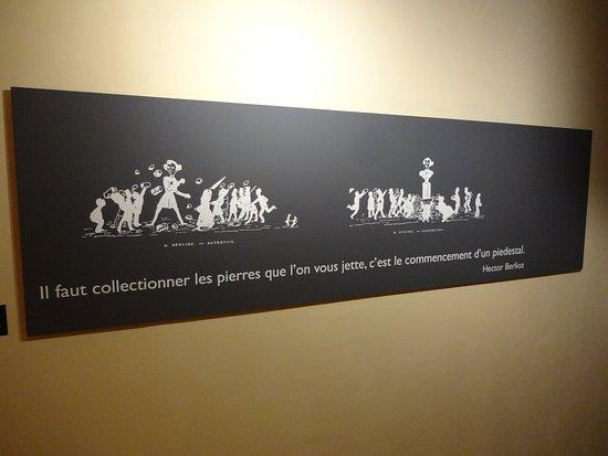 La Cote-Saint-Andre, Γαλλία: Pensée de Berlioz à méditer