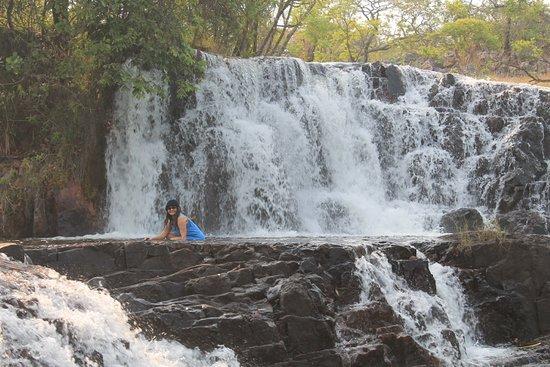 Luapula Province, Zambia: Small falls by Ntumbachushi falls