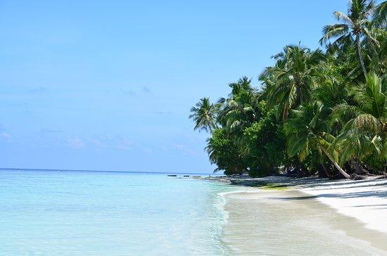 """""""Naše"""" pláž na severozápadě ostrova"""