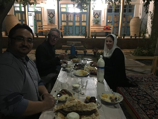 Golpayegan, Iran: With our lovely guests from Australia