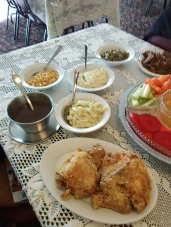 Golden Eagle, IL: Wittmond Hotel. December 29, 2018 at 12:58 PM · Brussels, IL ·  Great afternoon for a drive and ferry ride. Enjoy lunch family style. Chunks of apple sauce, sausages, beets, spiced apples apricot jam, corn relish, slaw, celery, carrots, rolls,. Next course to start now: Roast beef, fried Chicken, green beans, mashed potatoes, gravy, corn, chicken and dumplings.