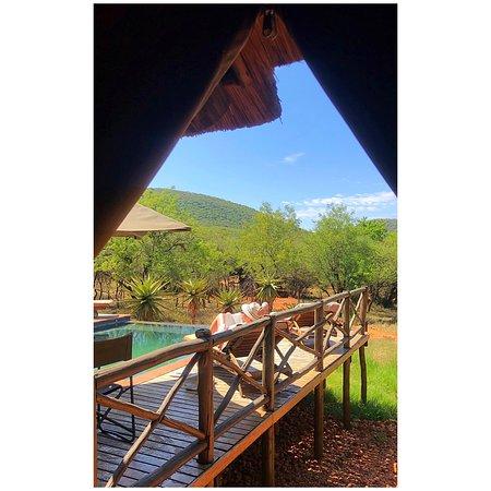 Boshoek, South Africa: The pool deck