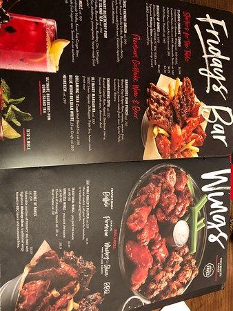 TGI Fridays - menu again