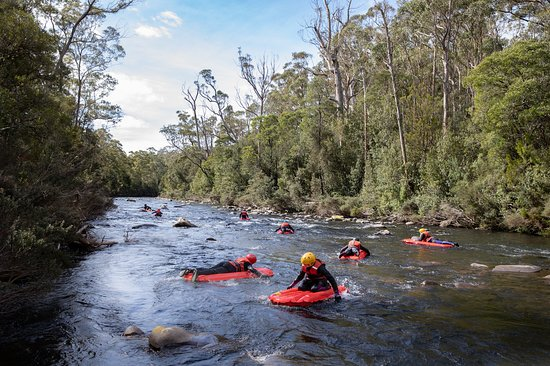 River Sledding Tasmania We think the best thing about our tours is getting out in the fresh air, up close and personal with the pristine water which has flowed directly from the rugged Tasmanian Wilderness World Heritage Area. So go on, have a gander at Meander with us!