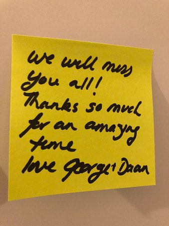 Soufriere, Dominica: We love our guests who leave notes!