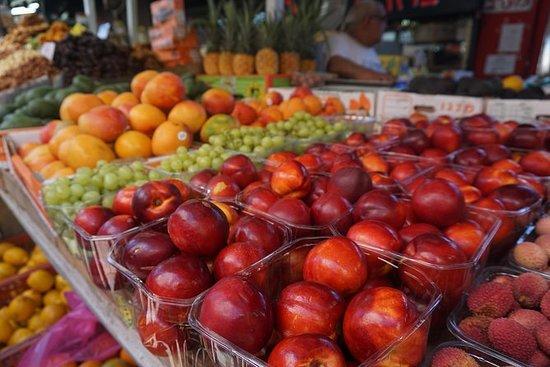 Visite du marché du Carmel