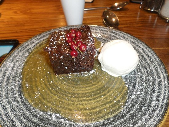 Kilsyth, UK: Sticky toffee pudding.