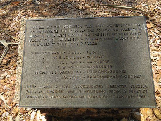Mandorah, Australia: Memorial Plaque to the Crew