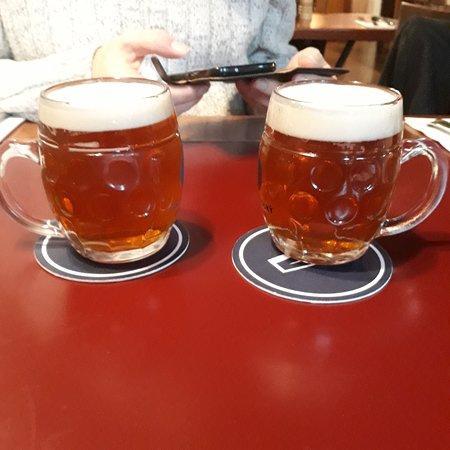 Local draught pivo (beer)