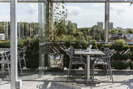 The Factory Kitchen: Our urban rooftop terrace enjoys views over the Ouseburn