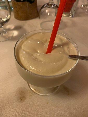 Ardenno, Italy: Sorbetto al Braulio, sapore del liquore presente ma molto addolcito!