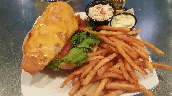Evansville, WI: HUGE fish sandwich