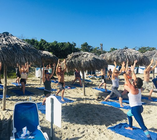 Beach yoga and Poolside Zumba with NRG2GO instructors Deb, Amber and Cheryl. So much fun! Gorgeous pools, delicious dinners. Lots of new friends 😊