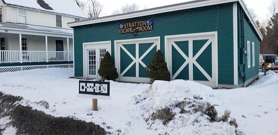 Bondville, VT: Stratton Escape Room is across from the bottom of the Stratton Access Road.