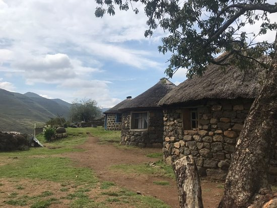 Major Adventures The Sani Pass Specialists: Stone houses in a Lesotho village.