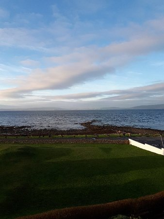 Blackwaterfoot, UK: View from our bedroom window December 2018 prior to the best Hogmanay party we have ever been to.