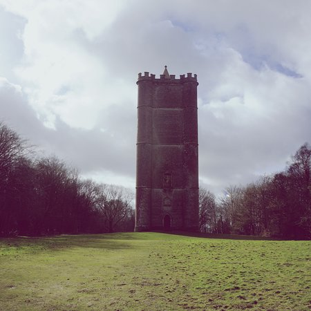 Bruton, UK: King Alfred's Tower on the Stourhead estate. What's most impressive about this place is how massive it is in person. Highly recommend the walk there from the main Stourhead gardens (though it's a trek!). Sometimes, they even open the tower and you can climb to the top and it has amazing views.