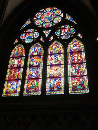 A beautiful stained glass window of Freiburg Cathedral
