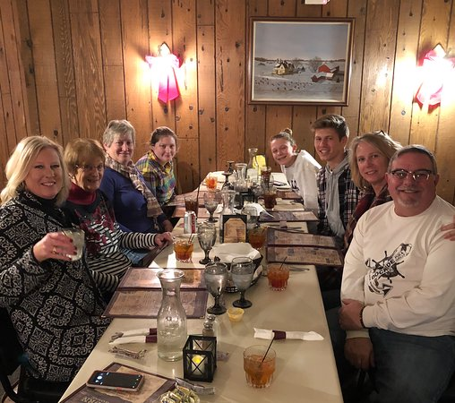 Beaver Dam, WI: Buckhorn Friday fish fry with family.