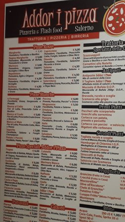 Addor i Pizza: il menù