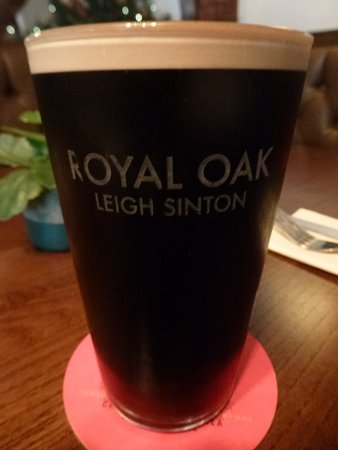Leigh Sinton, UK: Enjoying a nice pint