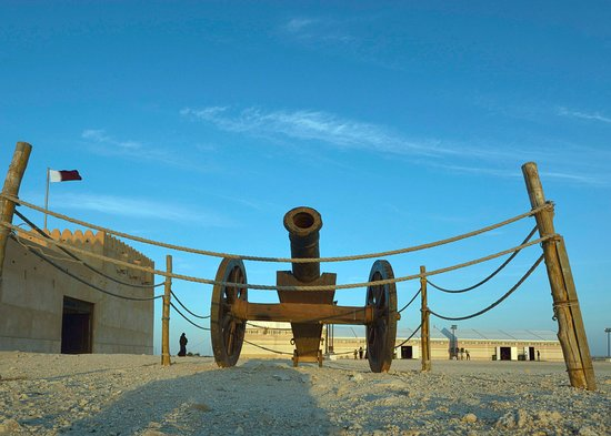 Madinat Ash Shamal, Qatar: A canion kept in display outside the Fort