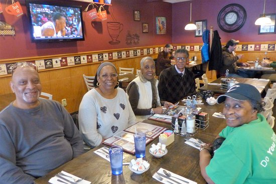 Bedford, OH: Friends (since the late 1950's and early 1960's) from the Glenville St. Clair area, along with my wife.