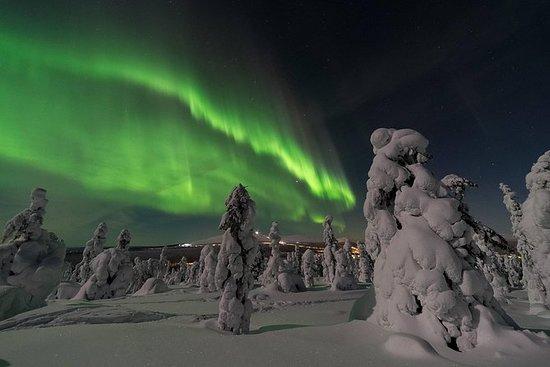 Aurora boreal en la estación de Sky...