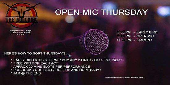 Eccles, UK: Open Mic Thursday !!