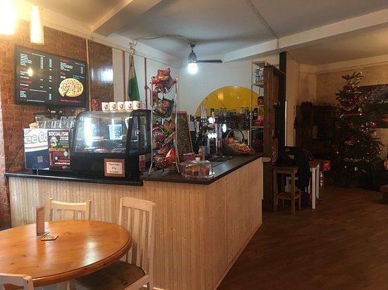 Eccles, UK: Bar area
