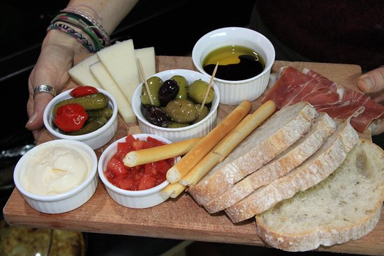 Bank Cottage Tea Rooms & Restaurant: Mixed Platter.  We try as often as possible to have tapas evening on the first Friday of every month where customers can enjoy a taste of Spain all home cooked on the premises.