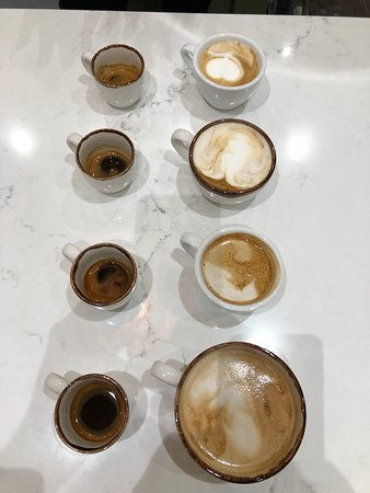 Tasting new coffees