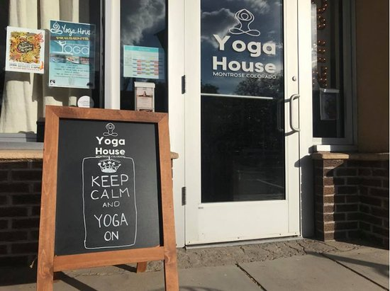Montrose, CO: Yoga studio front entrance