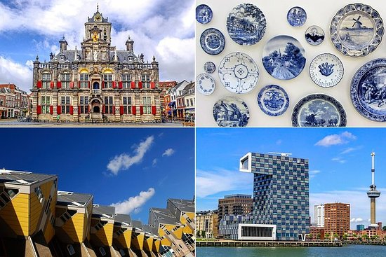 Live guided tour to Rotterdam, Delft...