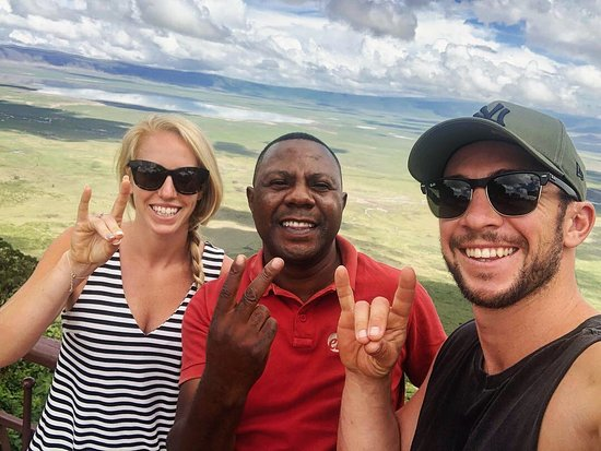 Tanzania Classic - 7 Days: Tesha and us on Safari - above the Ngorgoro Crater