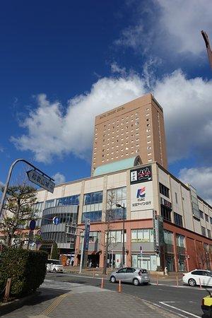 Wakayama, Япония: 和歌山城のすぐ前の複合施設にあります