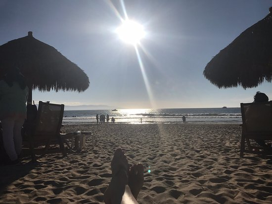 View from a palapa