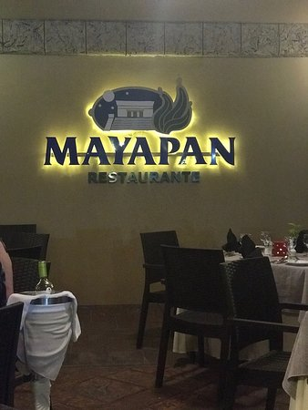 Mayapan Restaurant. Food was great, as was the service. Enjoyed listening to the live music while we are (can be hard to have any conversation if you are sitting too close). Chicken dishes were fantastic, and my daughter loved the kids shrimp meal. So much so that she had us go here for 5 dinners.