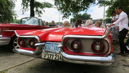 Vintage car parked in Revolution Square