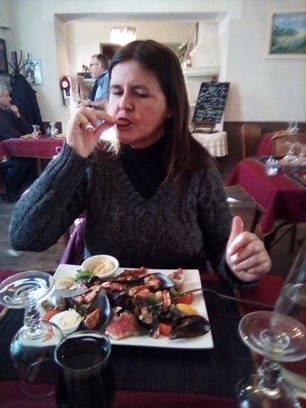 Cuers, France: salade de fruits de mer