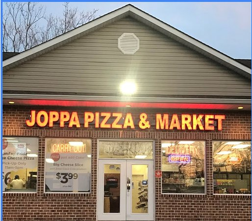 Joppa, MD: Local pizza shop and market.