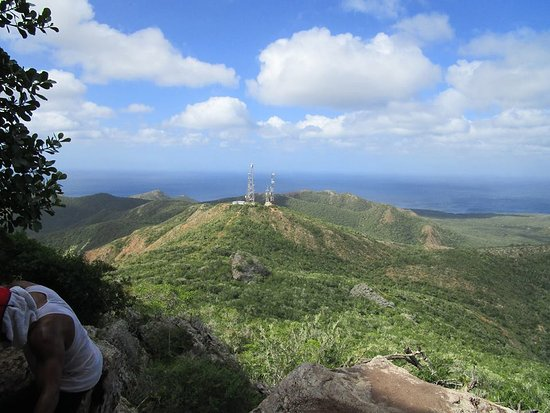 Christoffel Nationalpark, Curaçao: Here's one of the views you will get on the way up!