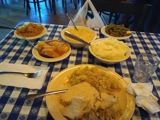 Crumpler, NC: Thanksgiving spread.