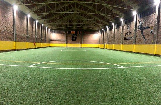 """L'Hospitalet de Llobregat, Spain: Campo de fútbol 7, el """"Jordi Alba Stadium"""""""