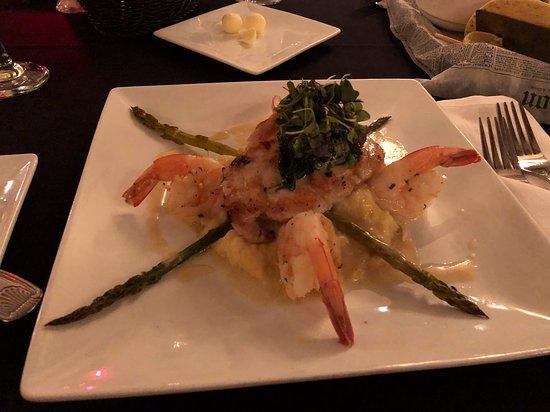 Bridge Street Bistro: Grouper Fish with Shrimps and Mashed Potato