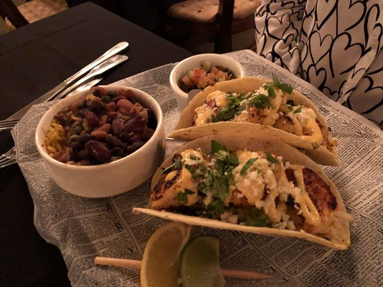 Bridge Street Bistro: Taco Shells with Shrimp