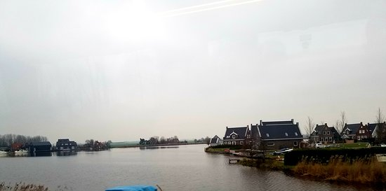 Broek in Waterland, The Netherlands: Water view of small town