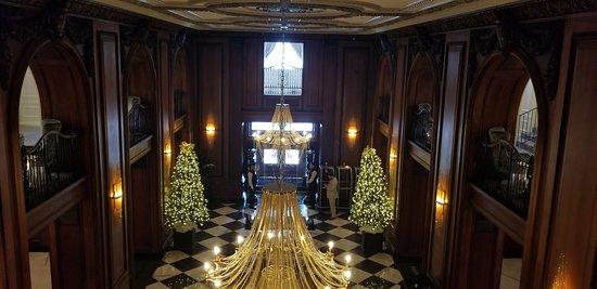 View of lobby from mezzanine