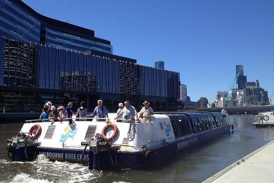 Hafen von Melbourne und Docklands...