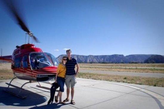 Passeio de helicóptero em Sedona...